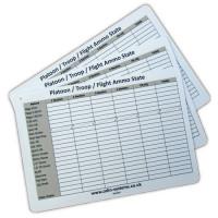 Waterproof Plastic Pl Sgts Ammo Cas Slate Card Packs