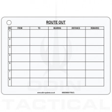 A6 Route Card Battle Slate