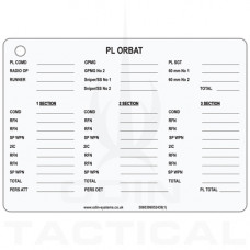 B5 Platoon ORBAT Slate / Crib  Cards