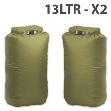 Exped  Waterproof 13 Ltr Twin Pack Dry Bags