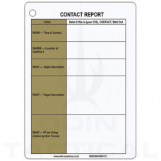 A6 Contact Report Slate / Crib Cards