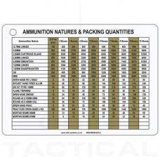 A6 RQMS Ammo Slate Cards