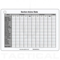 A6 Section Ammo Dual Sided Slate Cards