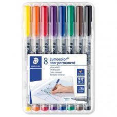 Lumocolor 316 WP8 Non Permanent Fine (8 Colour Wallet)