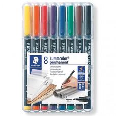 Lumocolor 318 WP8 Permanent Fine (8 Colour Wallet)