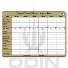 A5 Platoon Ammo / Casualty State Crib / Slate Card