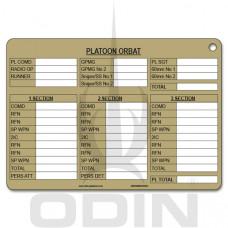 A5 Platoon ORBAT Slate Cards