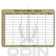 A5 Platoon Stag-Rota Cards