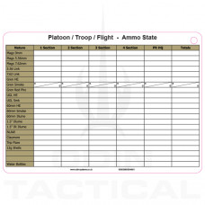 A5 Platoon Ammo Dual Sided Slate Cards