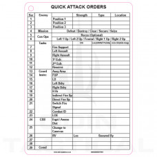 A5 Quick Attack Orders (CAOS) Slate Cards