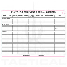 A5 Platoon Equipment Slate Cards